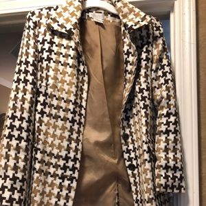 Houndstooth long jacket